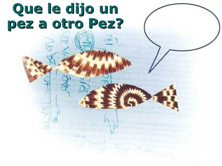 Que le dijo un pez a otro Pez?