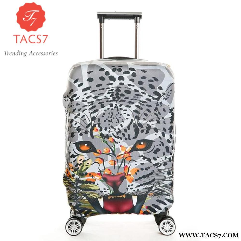 Squirrel And Floral Beautiful Travel Luggage Cover Suitcase Protector Fits 18-20 Inch Luggage