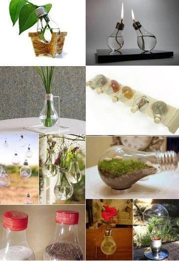 Decoracion hogar decoracion diy manualidades comunidad google ideas diy con bombillas - Manualidades hogar decoracion ...