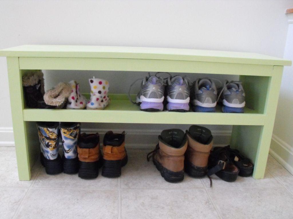Bench and Shoe Storage Ana Whitecom Bench
