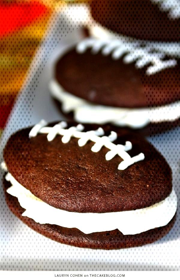 Football Whoopie Pie Recipe | on You can find Pies and more on our website.Football Whoopie Pie Rec
