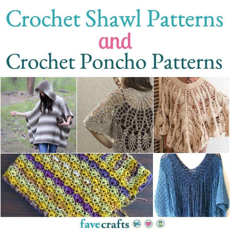 21 Crochet Shawl Patterns + How to Crochet a Poncho   Crochet ...