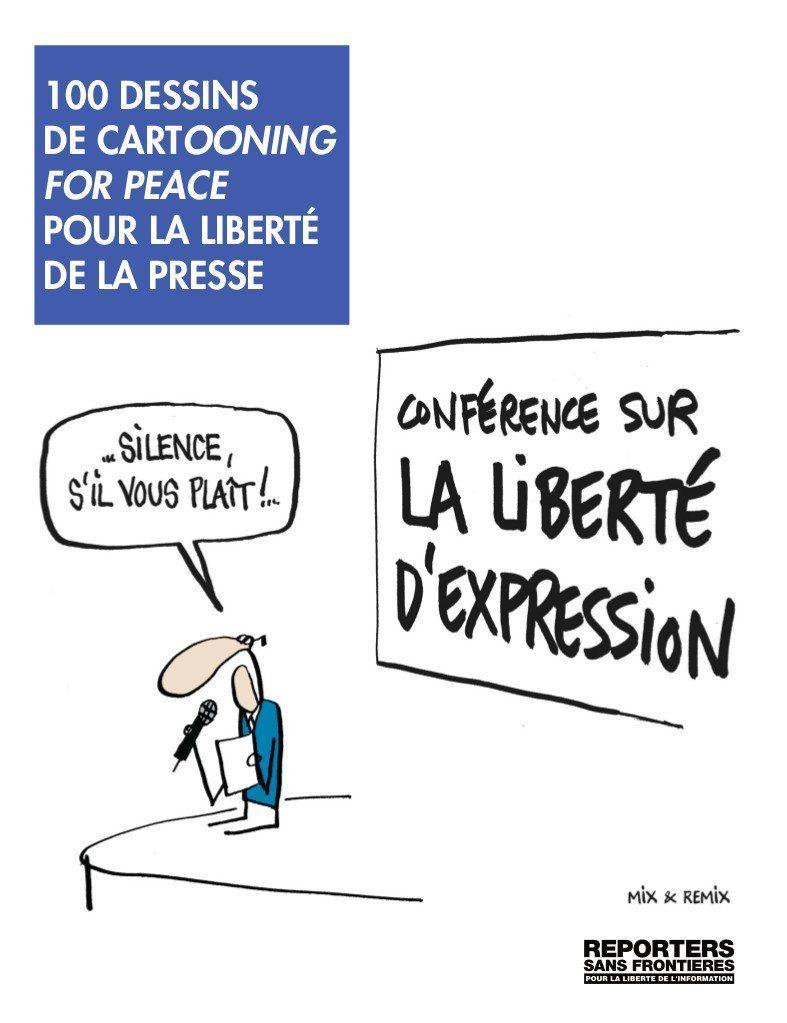 100 Dessins De Cartooning For Peace Pour La Libert De La Presse Bilingue Fran Ais Anglais 13 44 English Book Charlie Hebdo Remix
