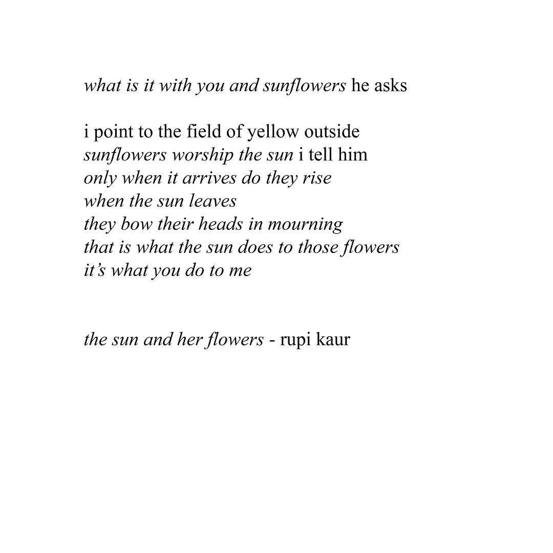 "rupi kaur on Instagram: ""today #thesunandherflowers turned 4 year"