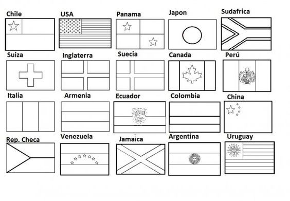 Projeto 3b Bandeiras Dos Paises Bandeira Para Colorir Geografia