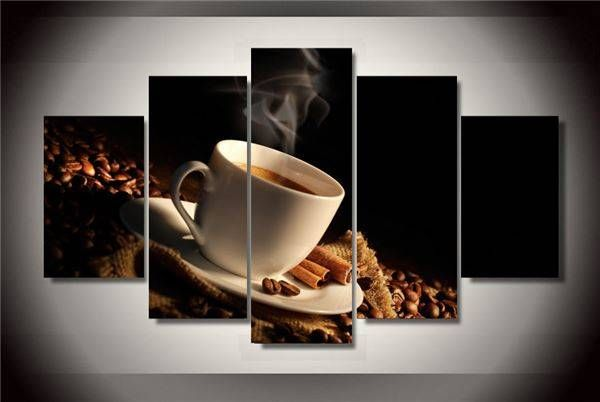5 Pieces/set Coffee Beans Painting Children Room Decor Print Poster Picture Canvas Wall Art Modular Picture Unframed