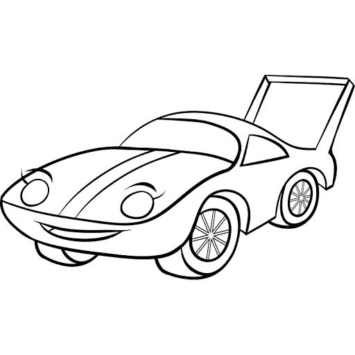 Mewarnai Gambar Mobil Sport Balap Cepat Coloring Pinterest Sports