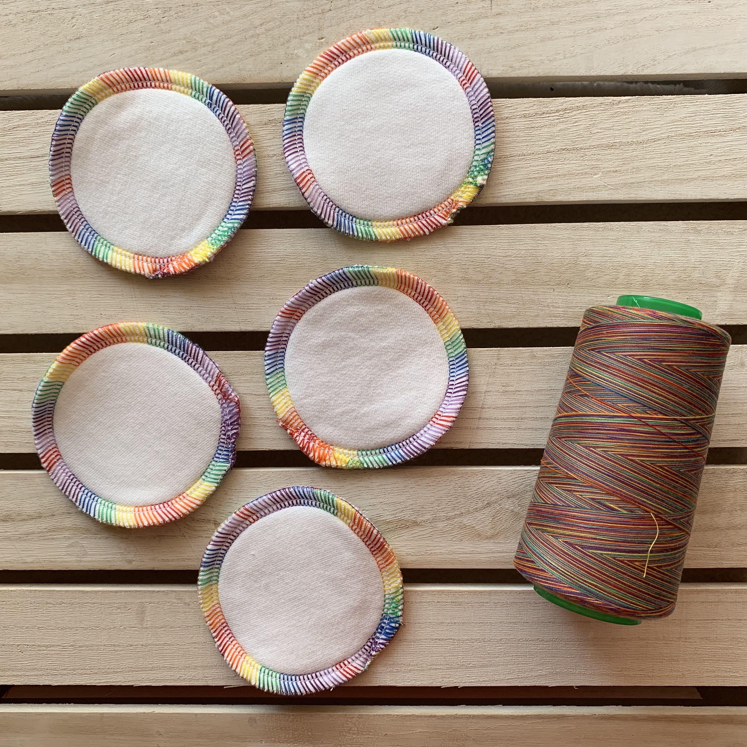 Rainbow Bamboo Cotton Rounds Makeup remover pads, Makeup