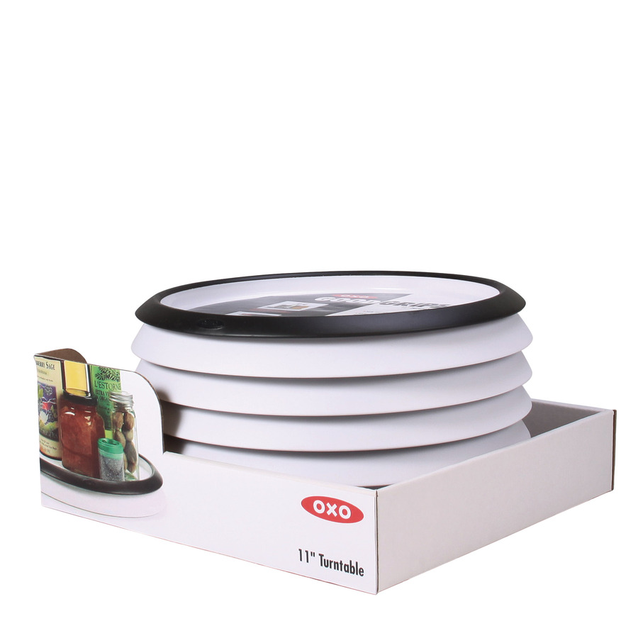 Best Oxo 1 Tier Plastic Full Circle Tabletop Lazy Susan At 400 x 300