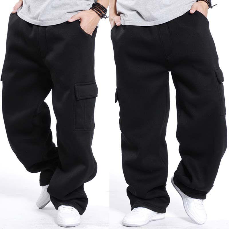 Otono Invierno Talla Grande Hip Hop Harem Sweat Pantalones Algodon Holgado Hombres Jog Pantalones Anchos Hombre Pantalones Cargo Hombre Ropa Informal Masculina