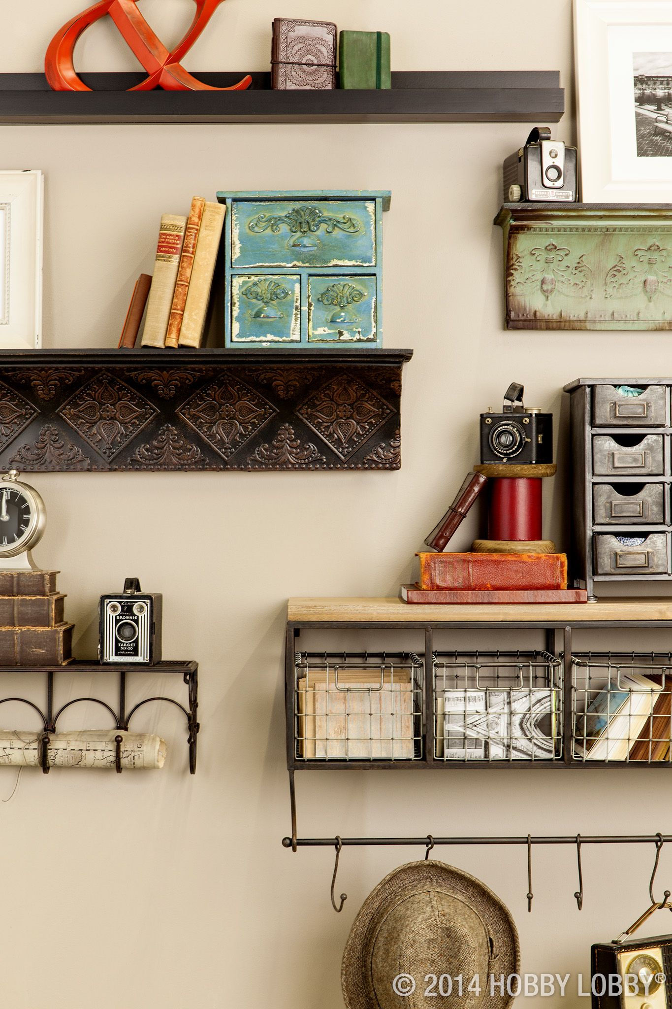 Modern storage area - Add Easy To Install Shelves To Create An Open Storage Area For Displaying Art