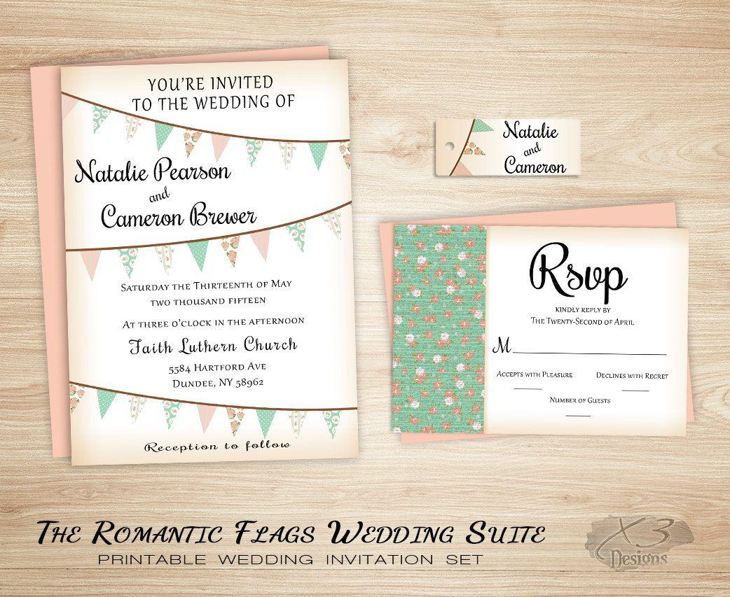 Country Rustic Wedding Invitaton, Backyard Wedding, Barn Wedding ...