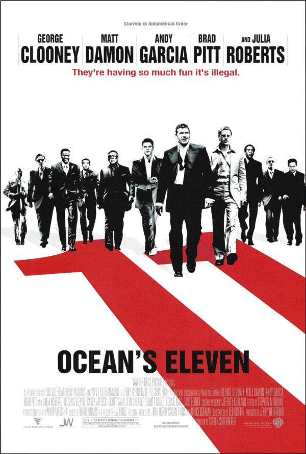Ocean S 11 Movie Poster Oceans Eleven Oceans 11 Movie Iconic Movie Posters