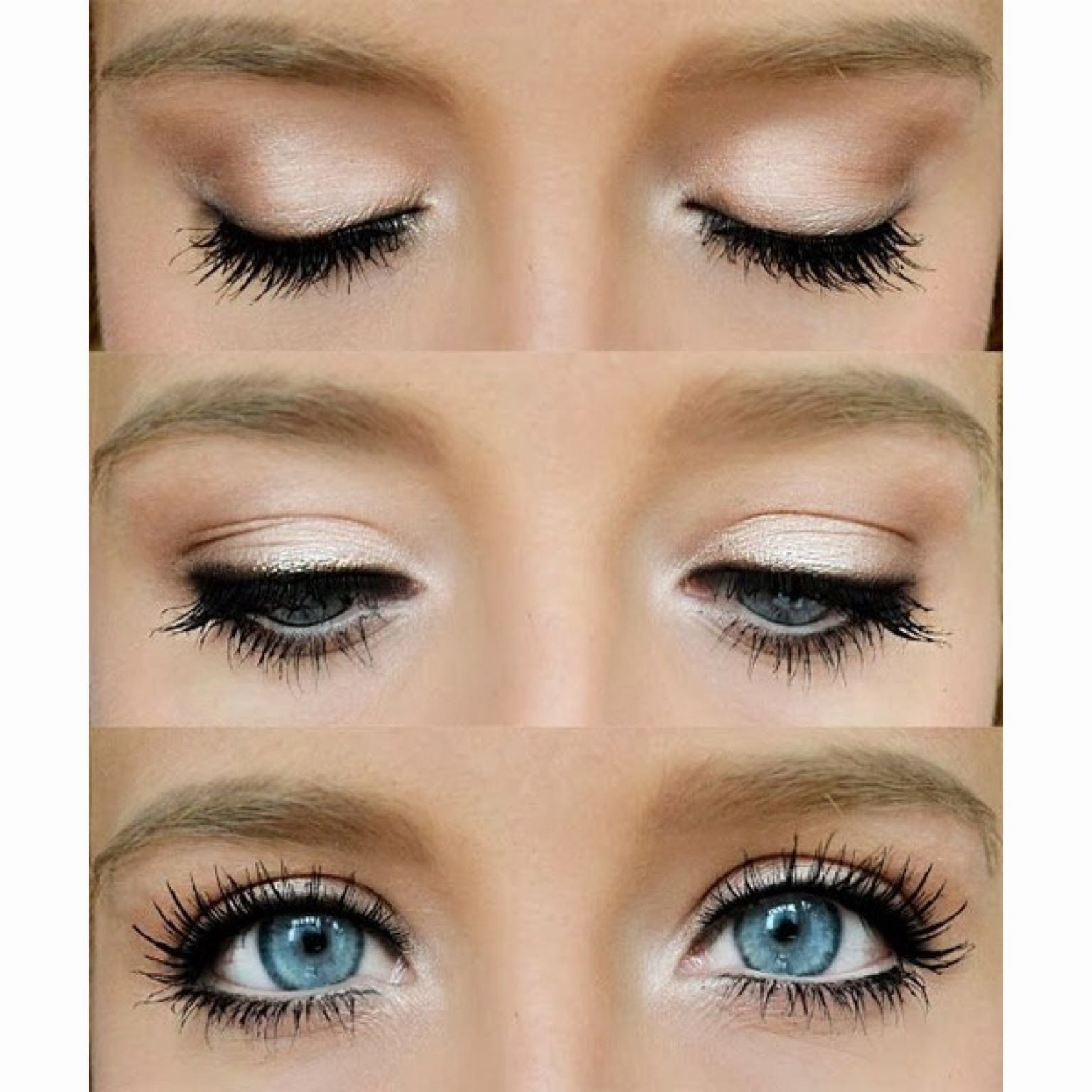 make your blue eyes pop with this natural eye. a little eye
