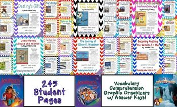 This bundle contains all 30 stories for the © 2014 3rd Grade Journeys: Units 1, 2, 3, 4, 5, and 6.There are a total of 245 student pages to be used as supplemental activities.