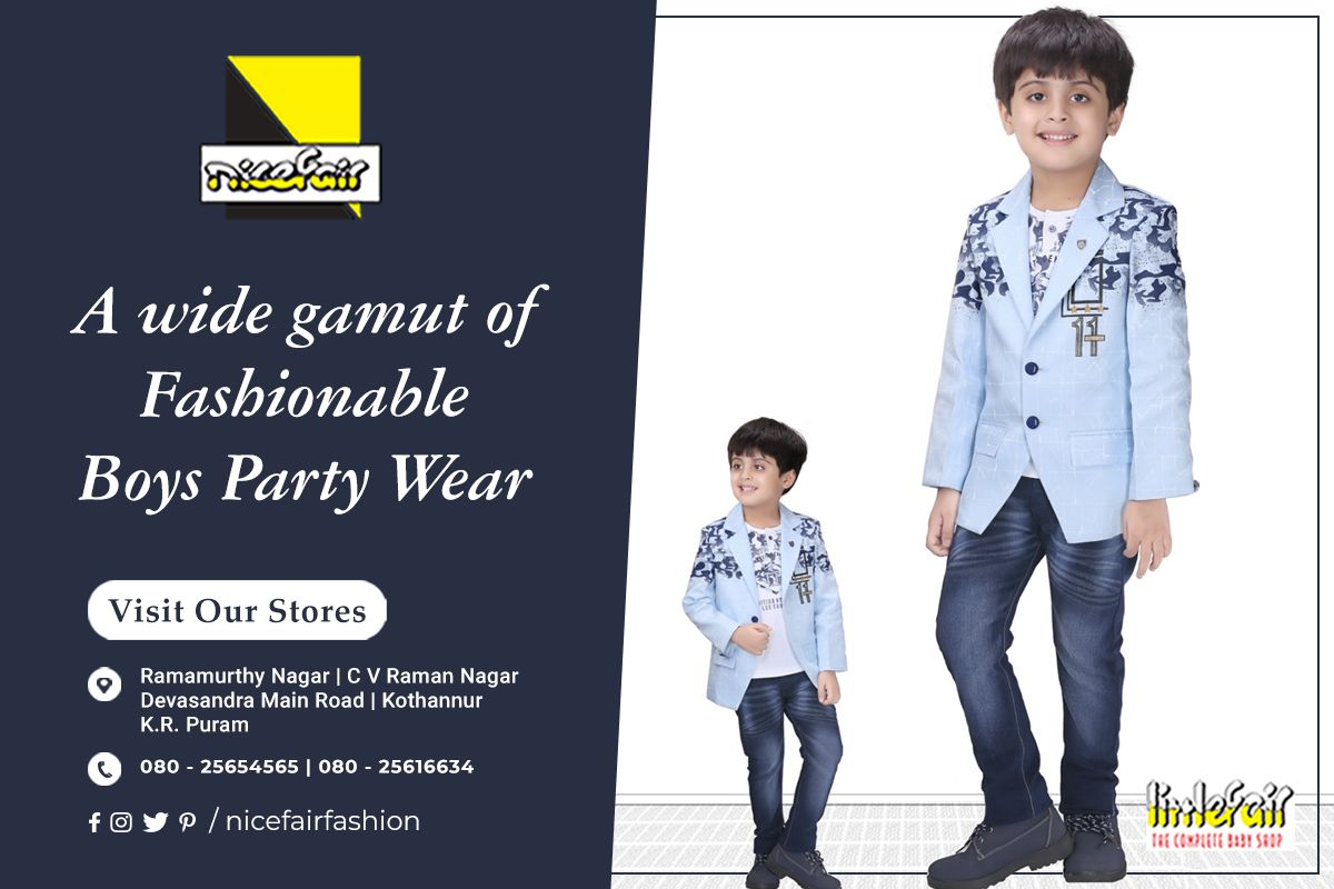 He Will Be The Centre Of Attention In All Special Occasions With The Charming And Stylish Range Of Nicefair Kidz Boys P Boys Party Wear Kids Fashion Boys Wear