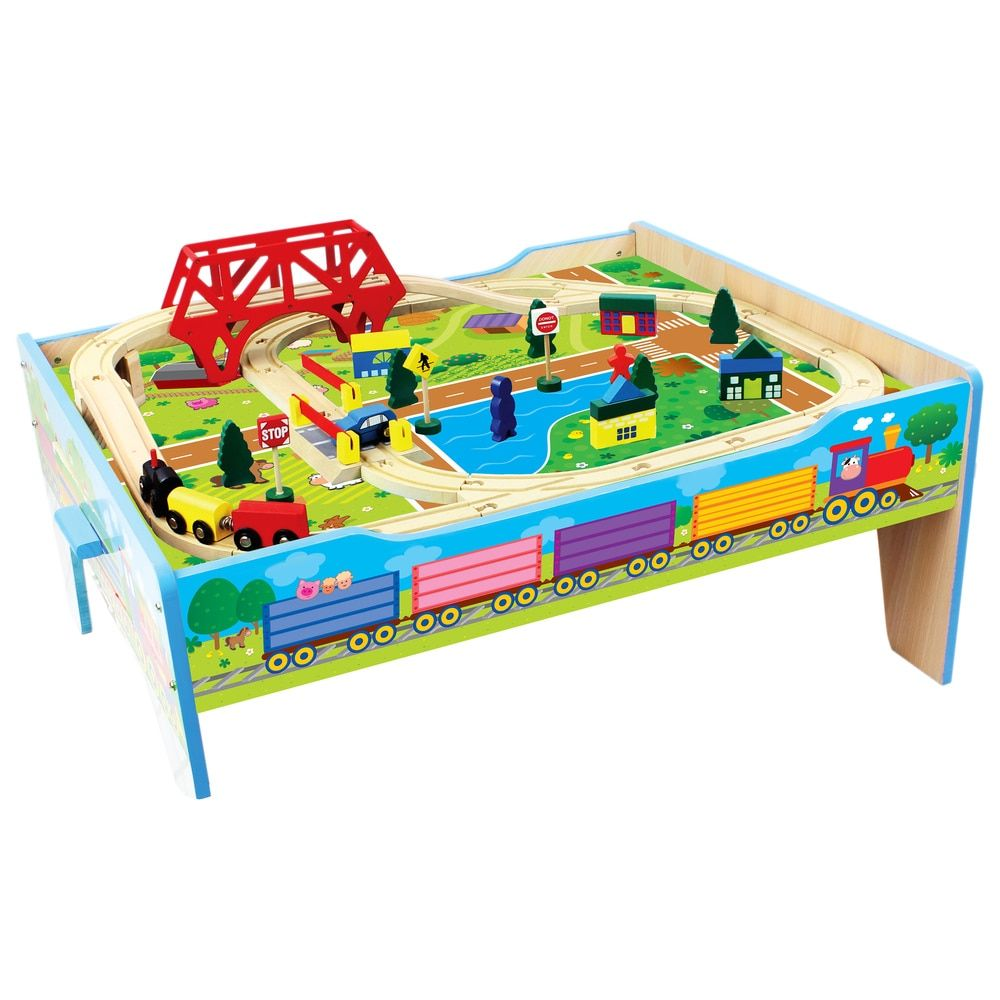 Homewear 50-piece Wood Farm Train Table - Free Shipping Today - Overstock.com - 17355469 - Mobile
