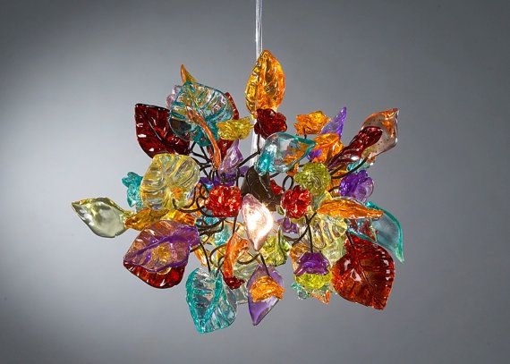 Colorful Ceiling Pendant Light With Flowers And Leaves Ceiling Pendant Lights Bedroom Decor Lights Colorful Ceiling Lamp