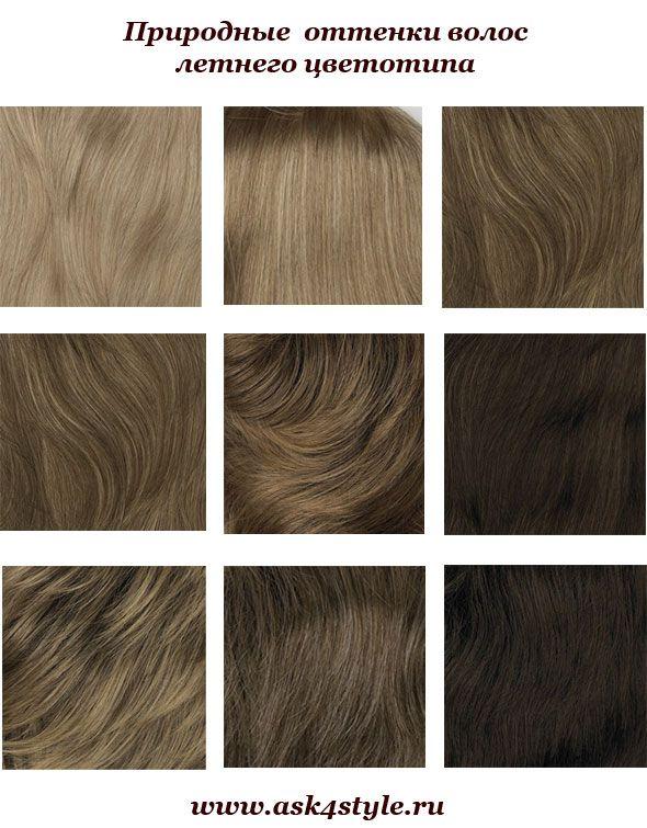 Цвет волос определить свой