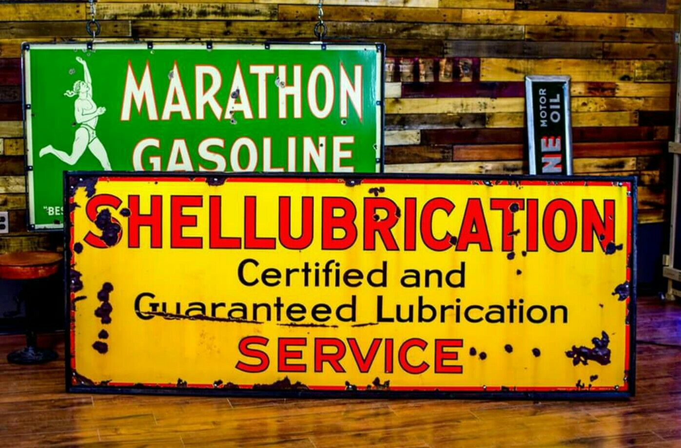 Rj Auto Repair >> Shell Lubrication Porcelain Sign | Porcelain & Tin Signs ...