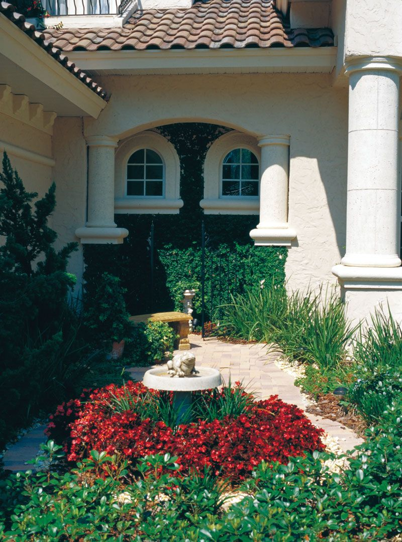 corvina mediterranean home patio plans mediterranean house