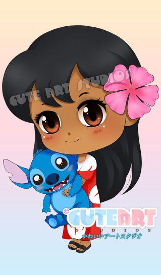 Lilo x Stitch Chibi by crowndolls on deviantART