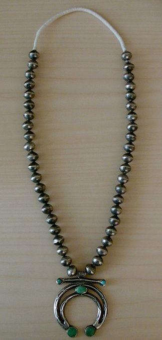 Historic navajo indian silver bead necklace naja pendant turquoise historic navajo indian silver bead necklace naja pendant turquoise aloadofball Gallery