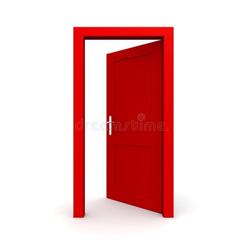 Open Single Red Door Single Red Door Open Door Frame Only No Walls Ad Red Door Open Single Red Ad Red Door Clip Art Doors