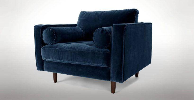 Chairbeautiful chair and a half with ottoman new navy