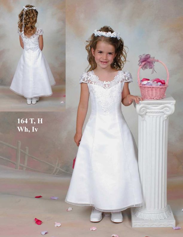 d83f7e8863b Original Fashion A-line Short Sleeves Long First Communion Dress In Canada Flower  Girl Dress Prices