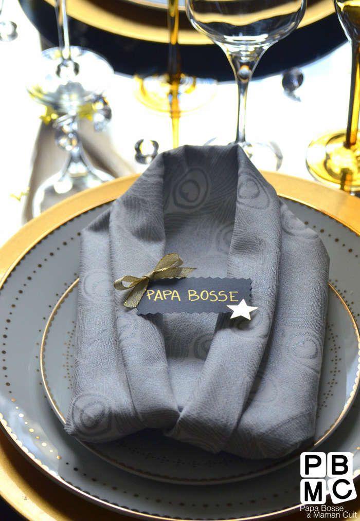 Pliage de serviettes en chemise d co table pinterest chemise - Pliage serviette ourson ...