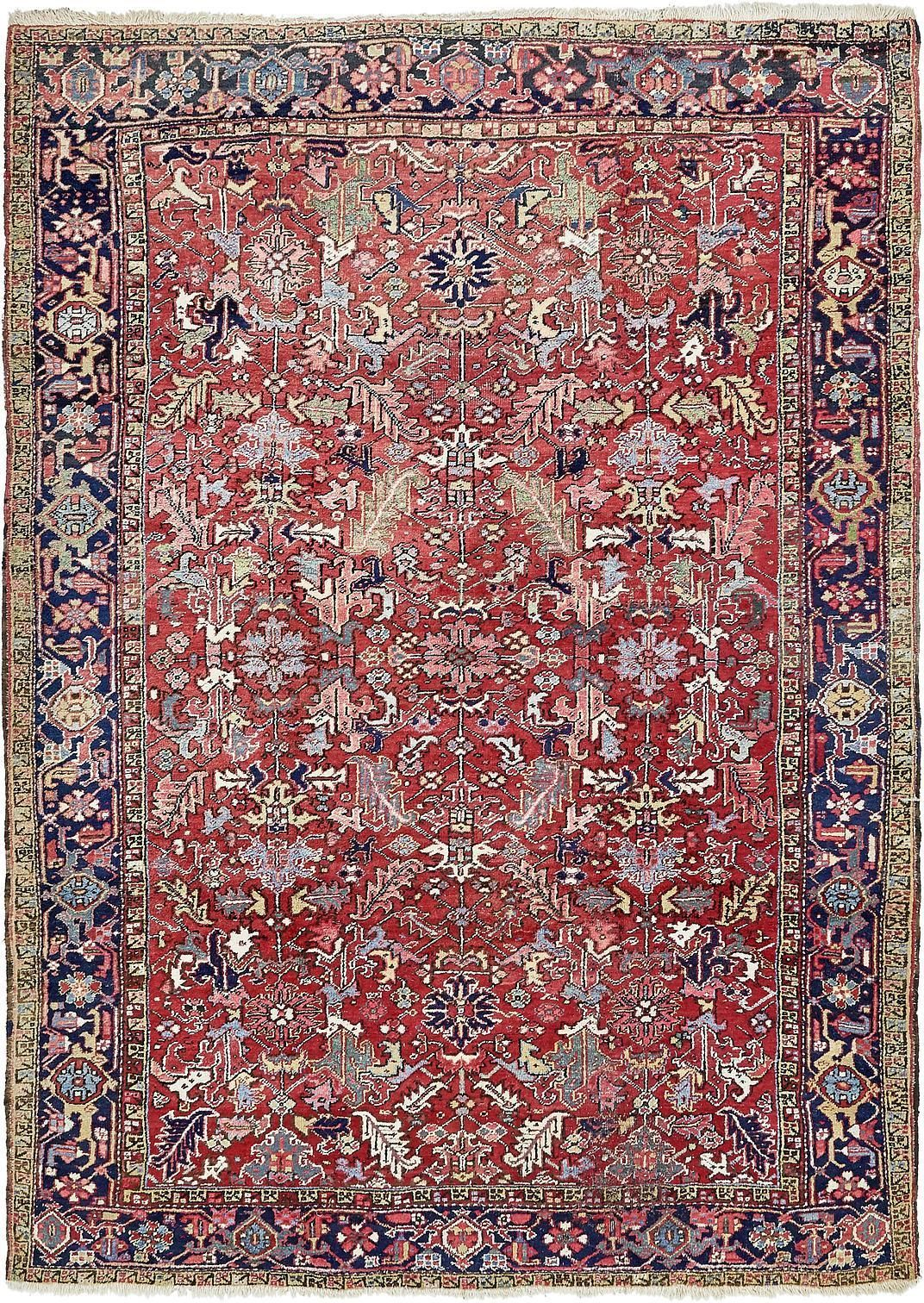 Red 7 10 X 10 10 Heriz Persian Rug Persian Rugs Esalerugs Rugs Persian Rug Rugs On Carpet