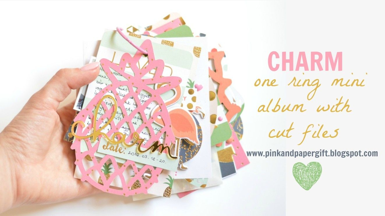 Charm one ring mini album with cut files by flora11 at @studio_calico