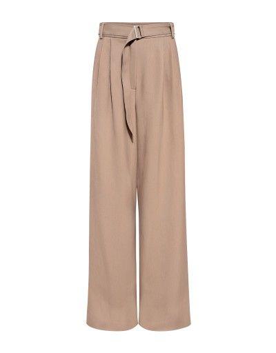 Trench High Rise Wide-Leg Pants by Designer Tibi