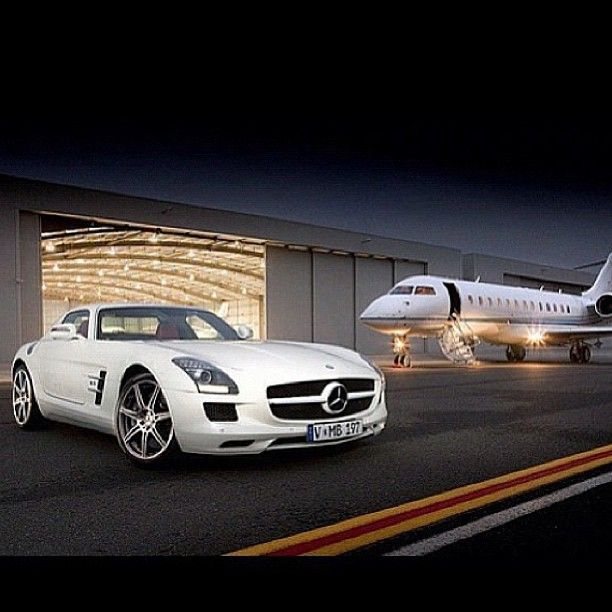 Perfect combination white Mercedes SLS with Red interior Mmm!