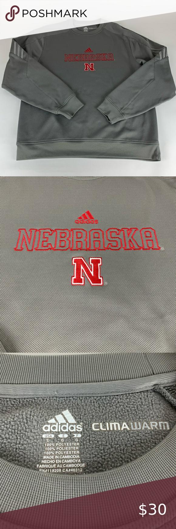 Nebraska Cornhuskers Adidas Climawarm Sweatshirt Nebraska Cornhuskers Sweatshirt Shirt Cornhuskers [ 1740 x 580 Pixel ]