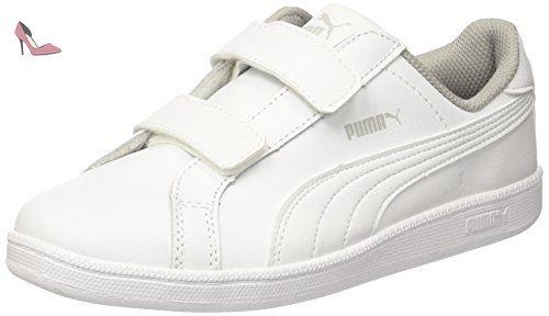 check out c8fe7 26f27 Sneakers V white Basses L Blanc Fun Mixte Ps Smash Puma Enfant tq7gXwHv