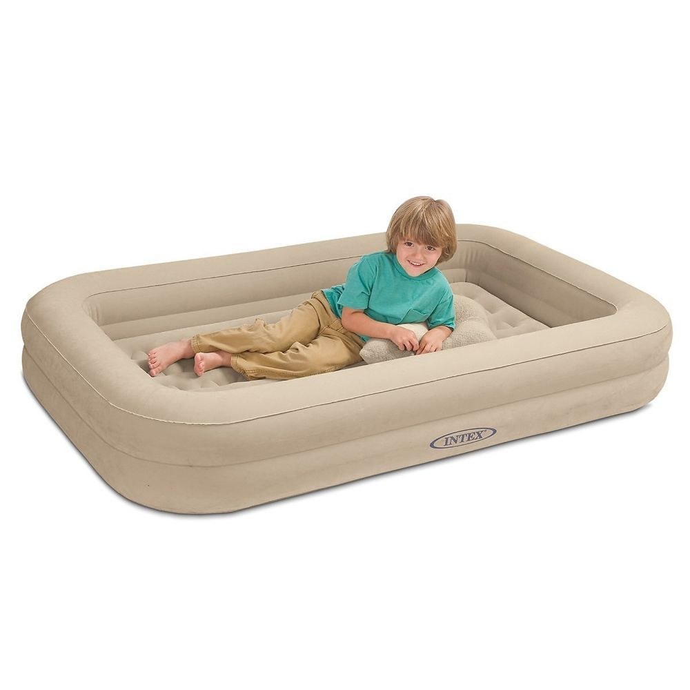 Intex Inflatable Kids Youth Toddler Travel Airbed Blowup Mattress Hand Pump Ebay Kids Travel Bed Inflatable Toddler Bed Toddler Travel Bed