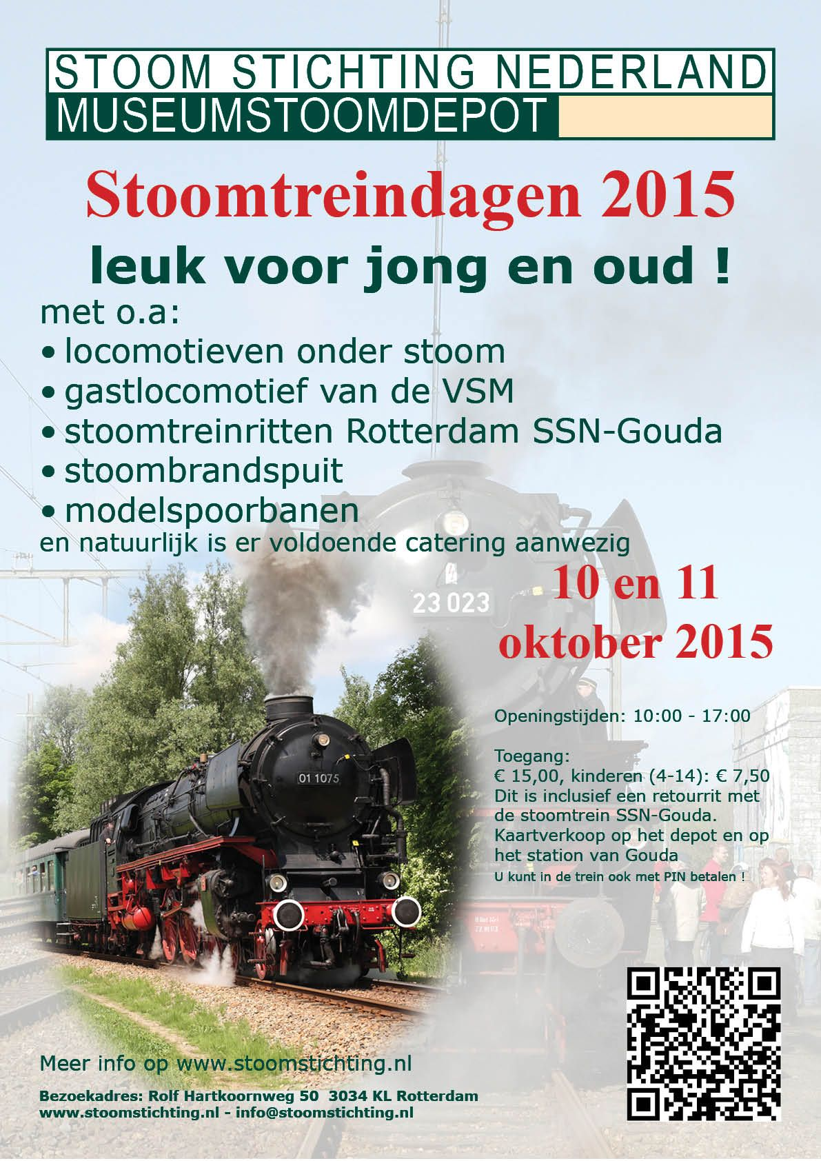 Stoom Stichting Nederland - Evenementen en ritten