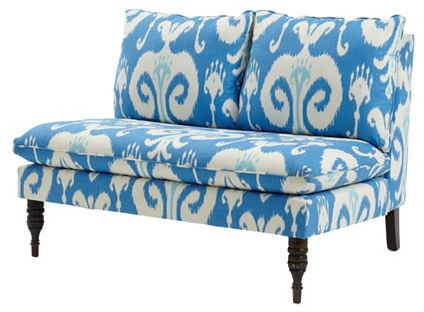 Great Settee For Home Staging Bacall Armless Settee