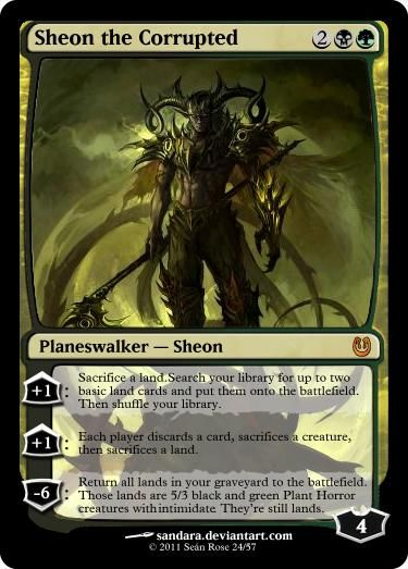 Sheon the Corrupted (Black/Green Planeswalker) - Custom ... Planeswalker Arcane Wizardry