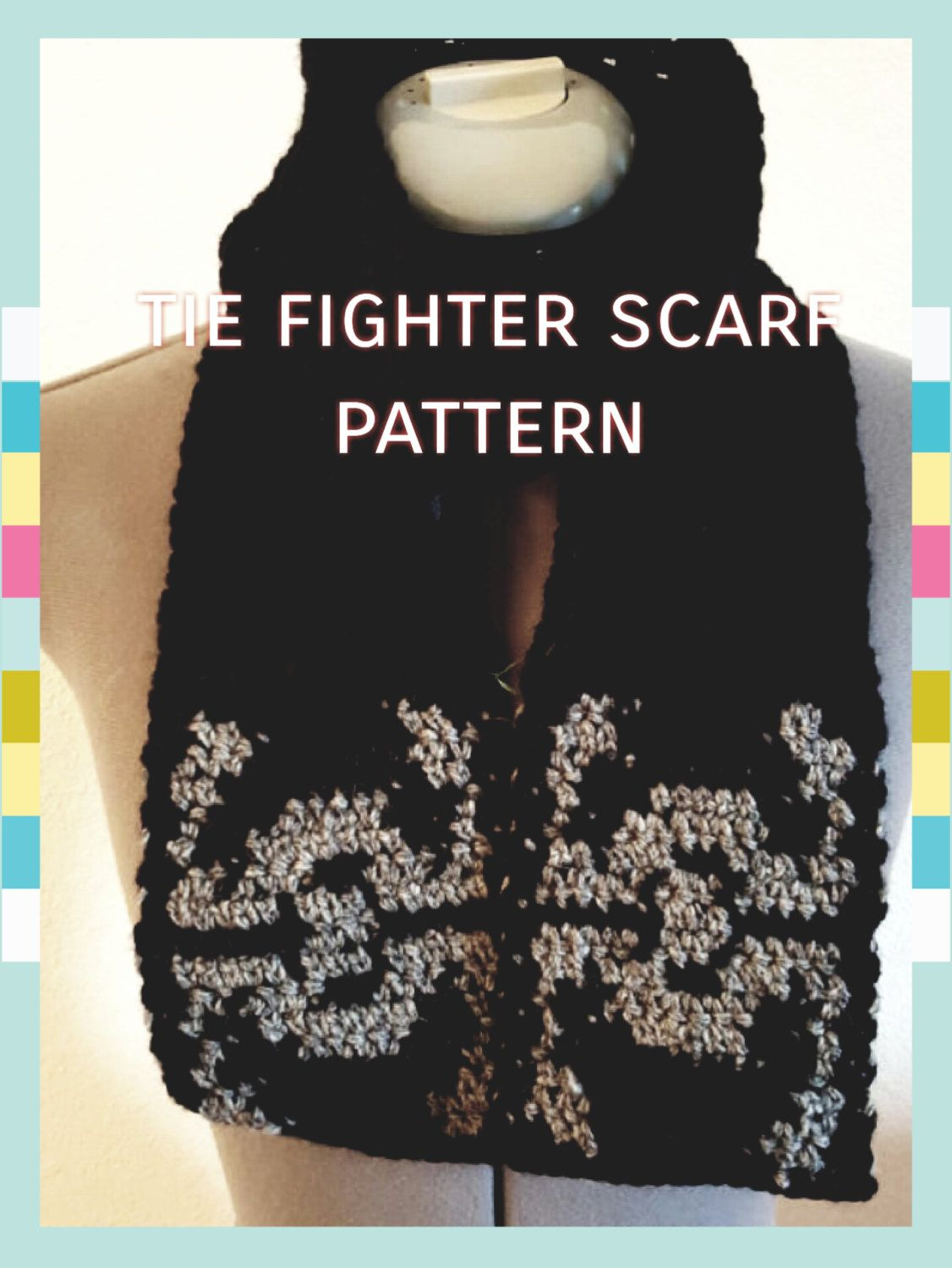 Tie fighter scarf pattern crocheted star wars inspired scarf tie fighter scarf pattern by crankyrooster on etsy star wars diy crochet star wars gifts handmade star wars gifts solutioingenieria Images