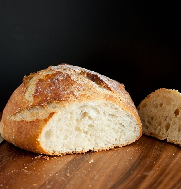 Cooking Classy: 4 ingredient, no knead Crusty Rustic Bread.
