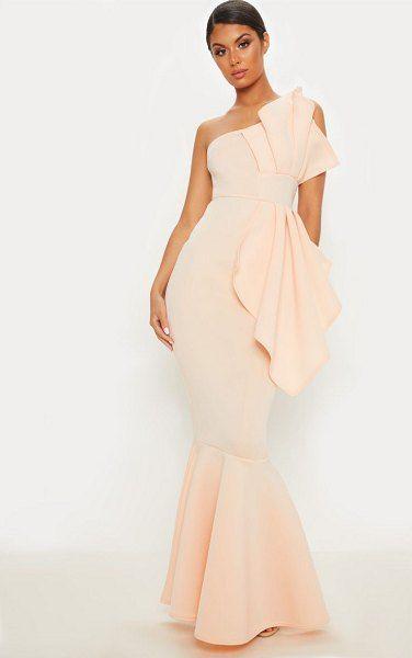 PrettyLittleThing Stripe Velvet Cup Detail Bodycon Dress