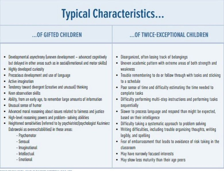 50 characteristics of a gifted child
