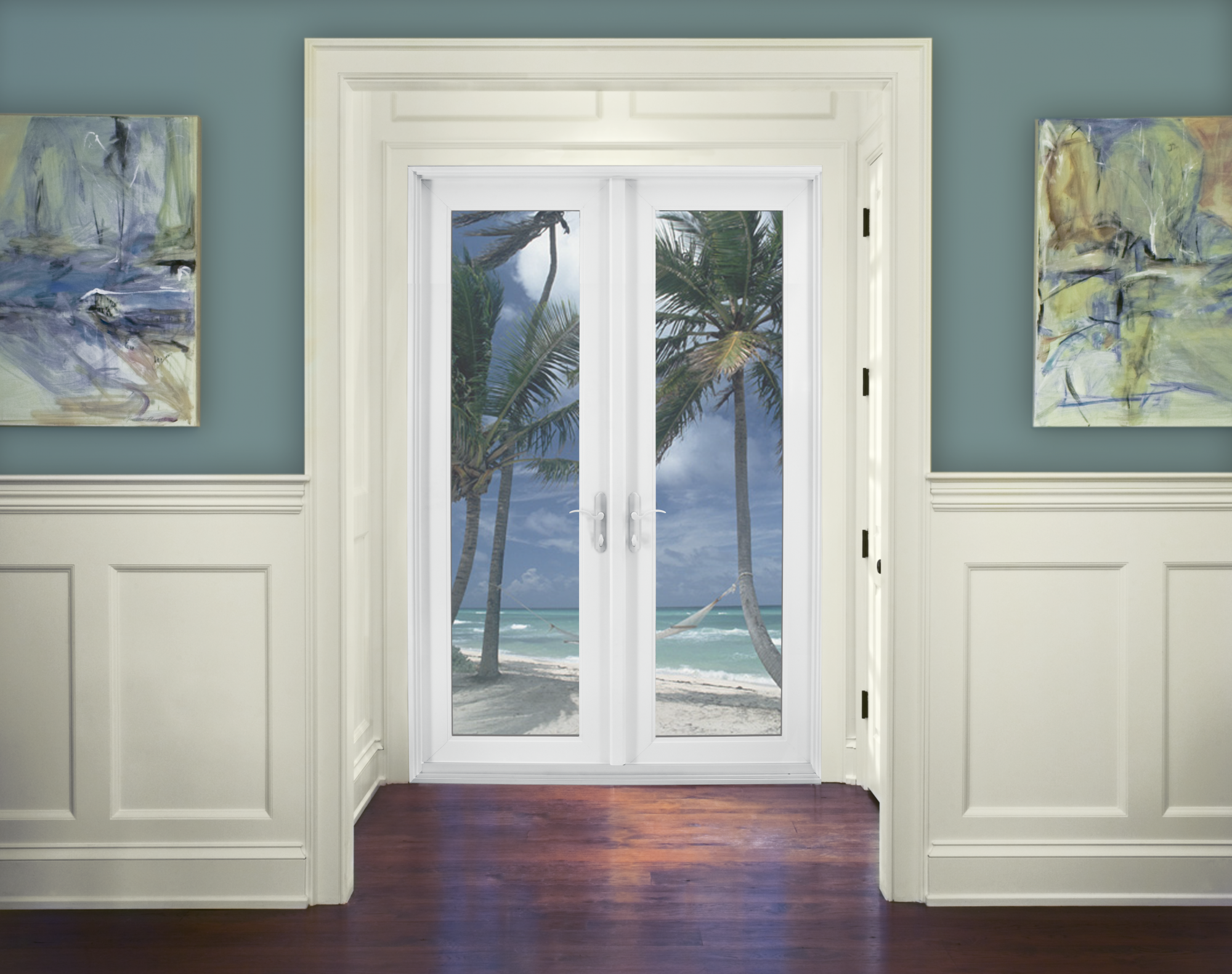 Premium Atlantic Vinyl Swinging Patio Door Jeld Wen Windows