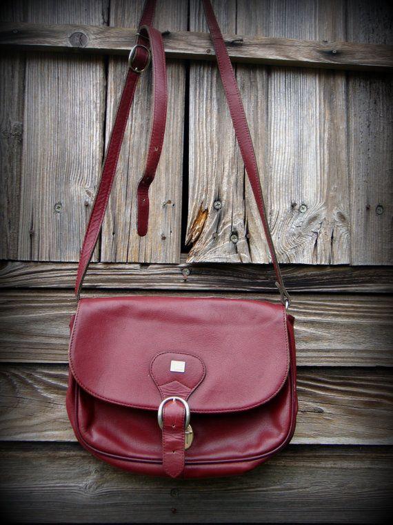 Bag Bordeaux Jacques Esterel 1970 S Made In France Besace Esterel Vintage