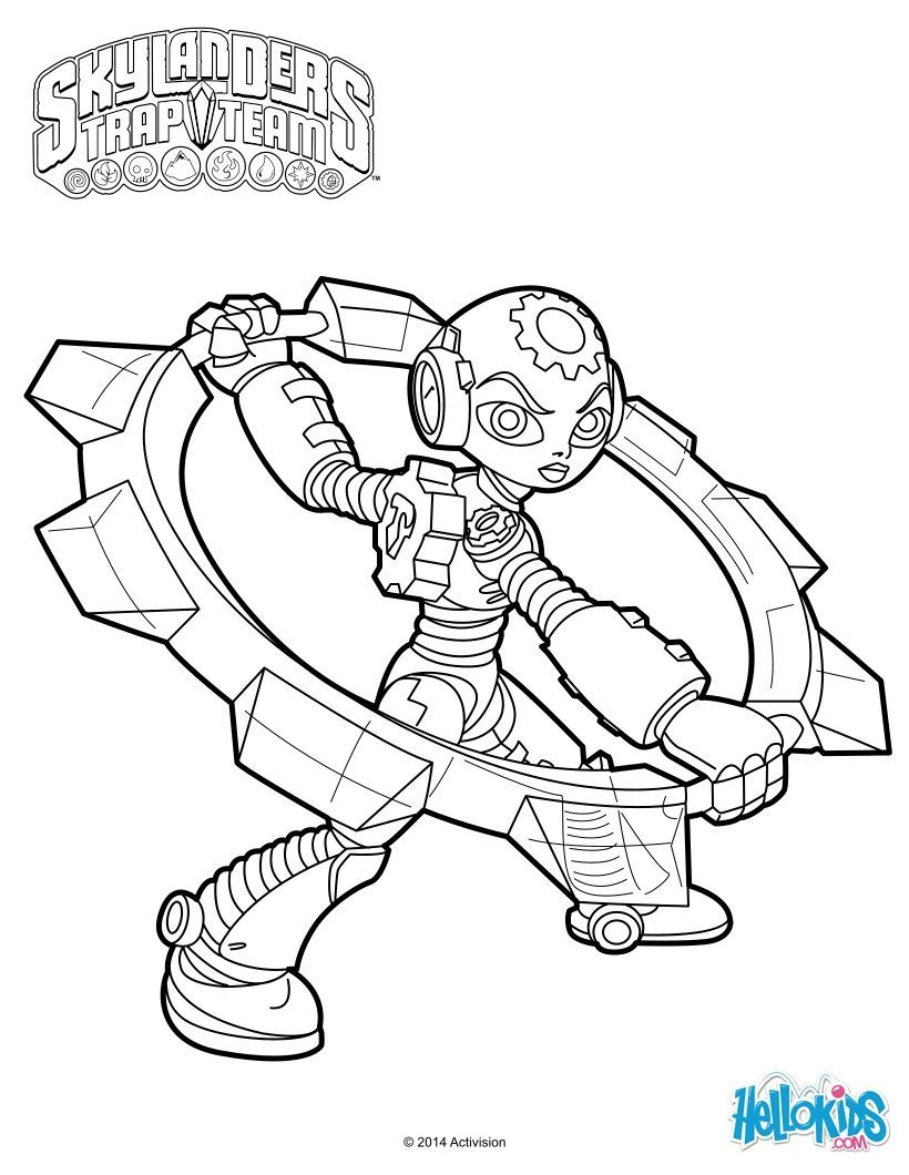 Skylanders Trap Team Coloring Pages Amazing Gearshift Coloring Page From Skylanders Trap Team Video Gamemore Inspiration Design