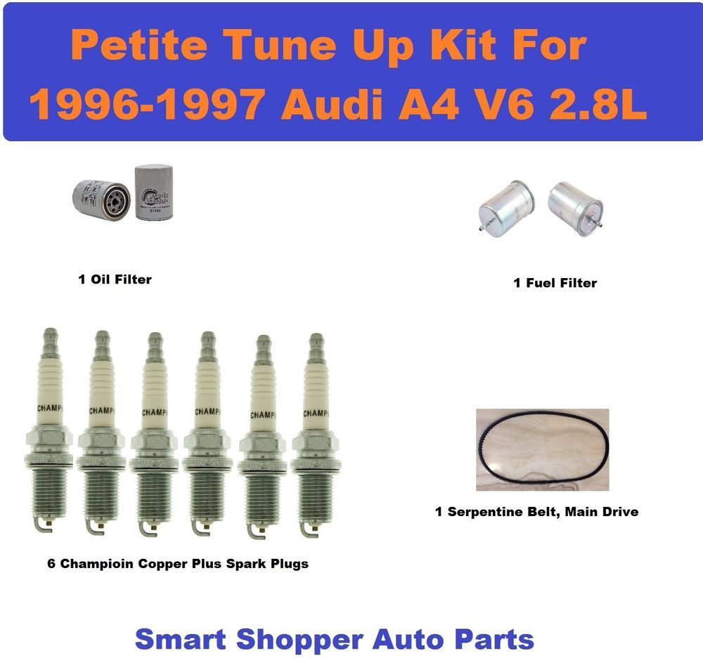 Major Tune Up Kit For 96 97 Audi A4 Serpentine Belt Spark Plug Oil Fuel Filter Spark Plug Audi A4 Plugs