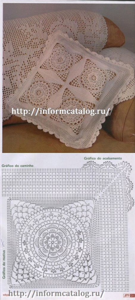 •✿• ♥ •✿• Cobertura de Renda a Céu aberto no Travesseiro | Tópico ...  /   •✿• ♥ •✿• Open Lace Cover on Pillow | Topic ...